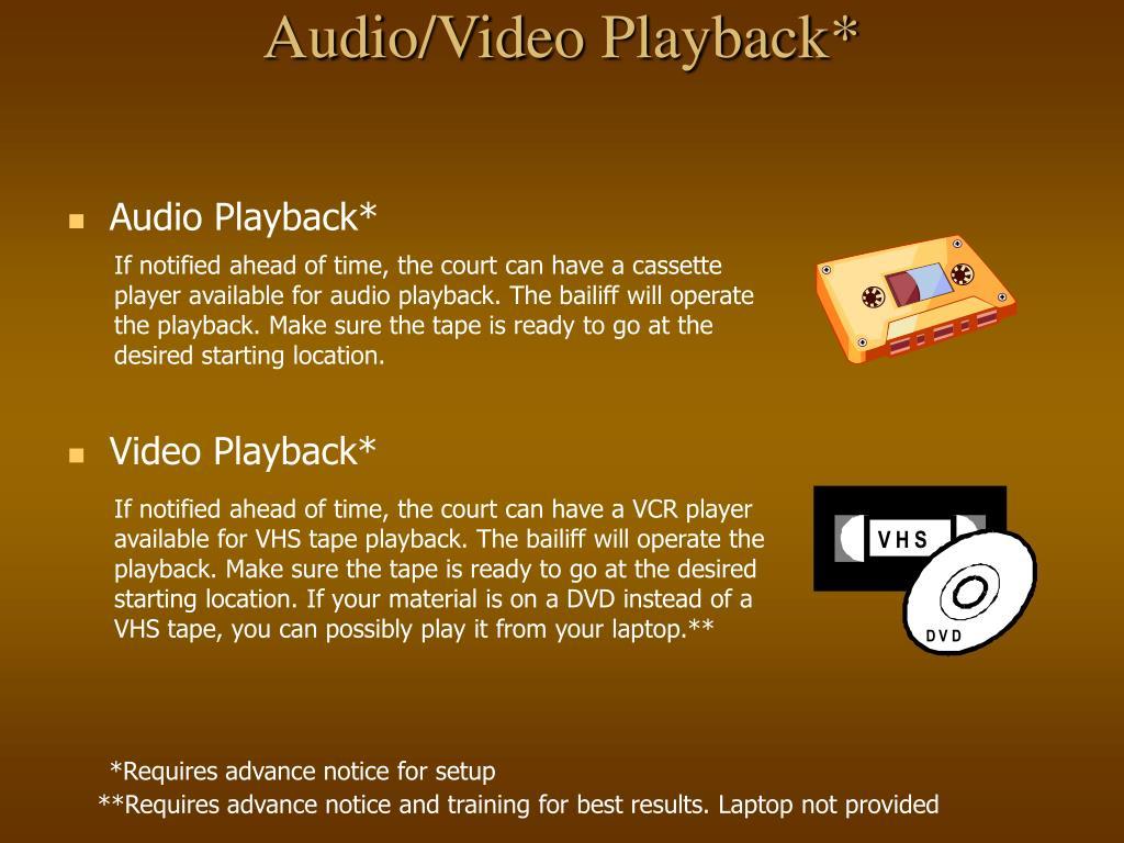 Audio/Video Playback*