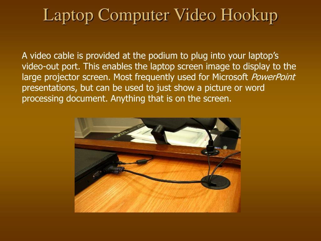 Laptop Computer Video Hookup
