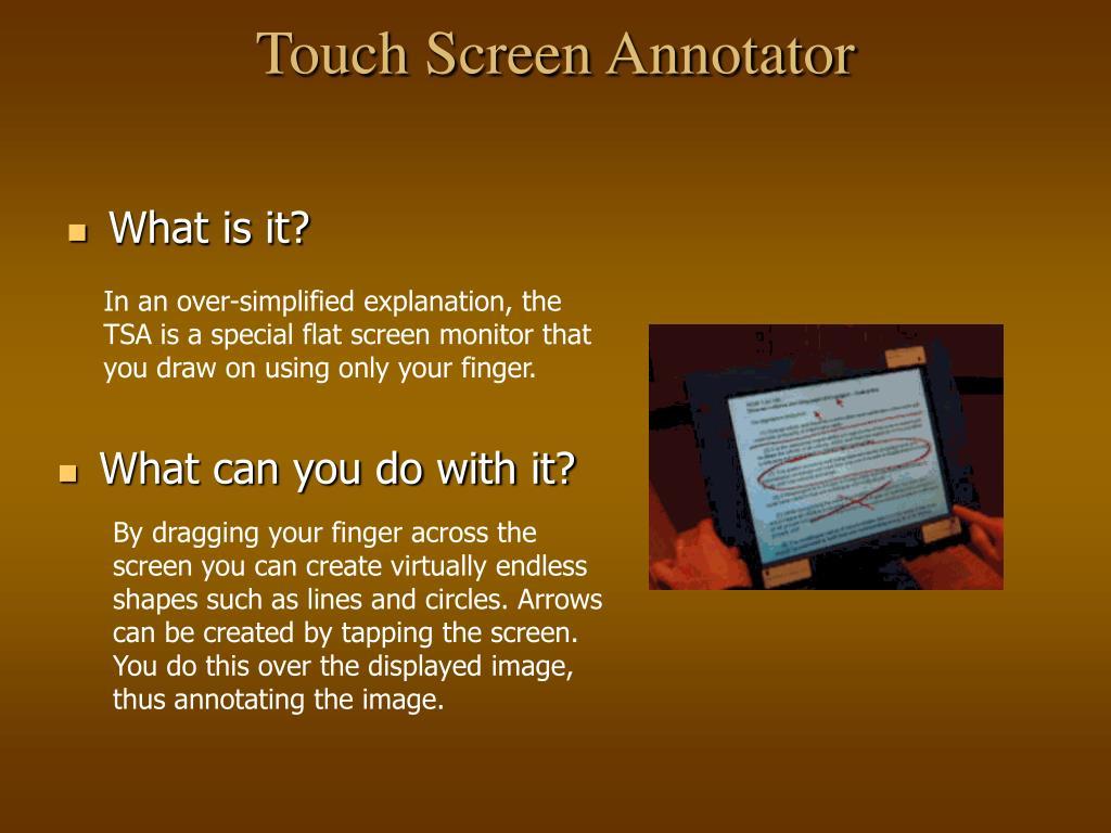 Touch Screen Annotator