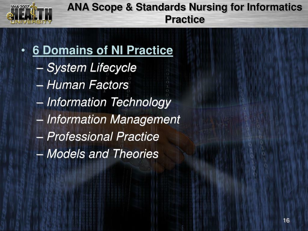ANA Scope & Standards Nursing for Informatics Practice