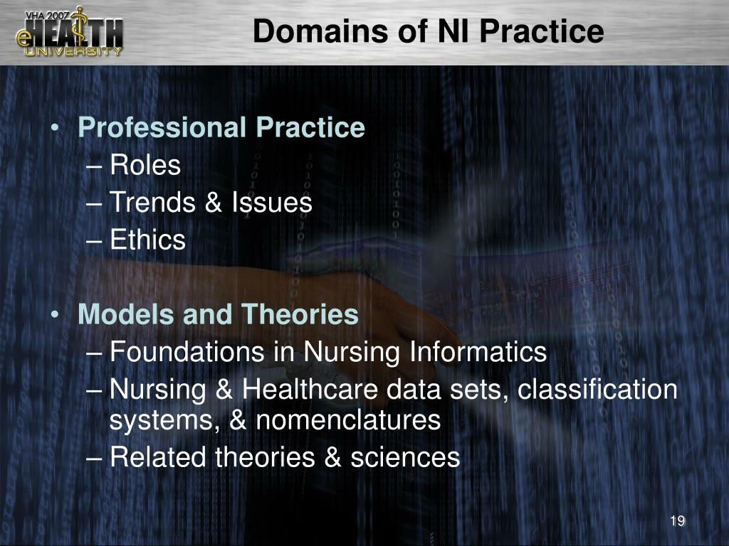 Domains of NI Practice