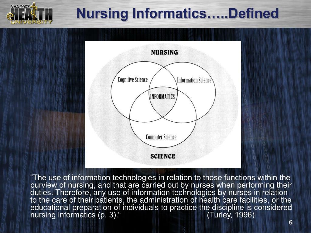 Nursing Informatics…..Defined