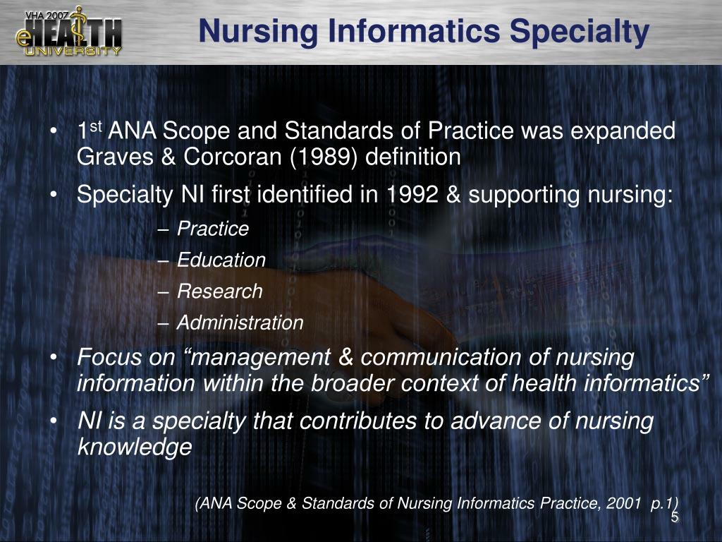 Nursing Informatics Specialty