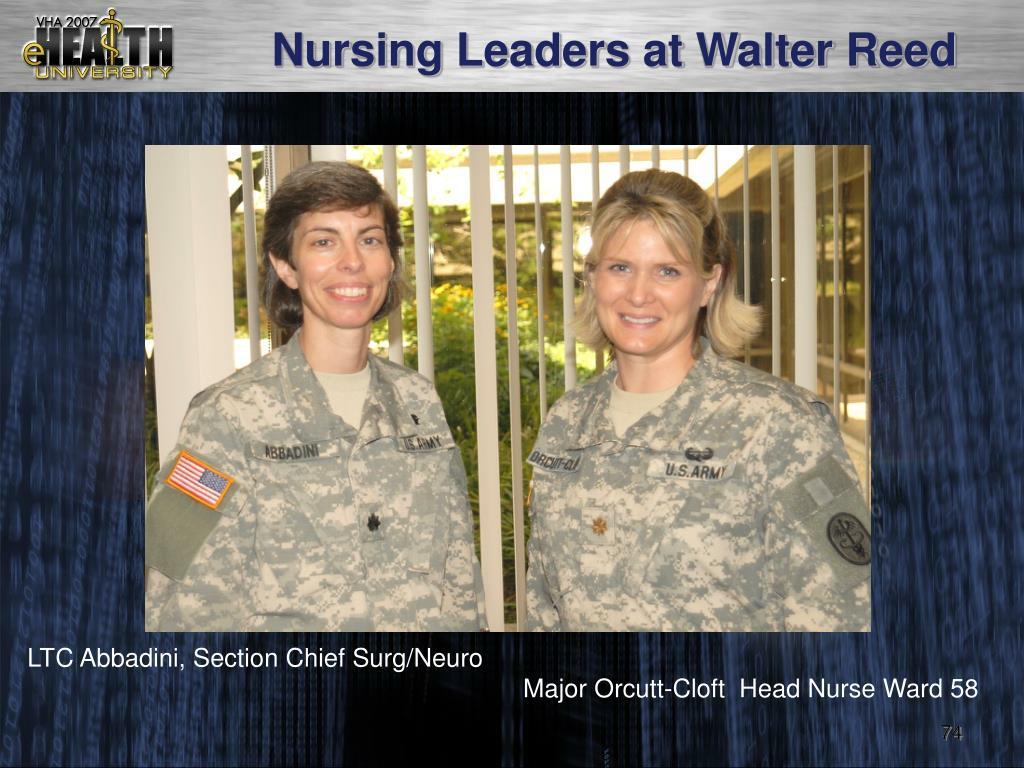 Nursing Leaders at Walter Reed