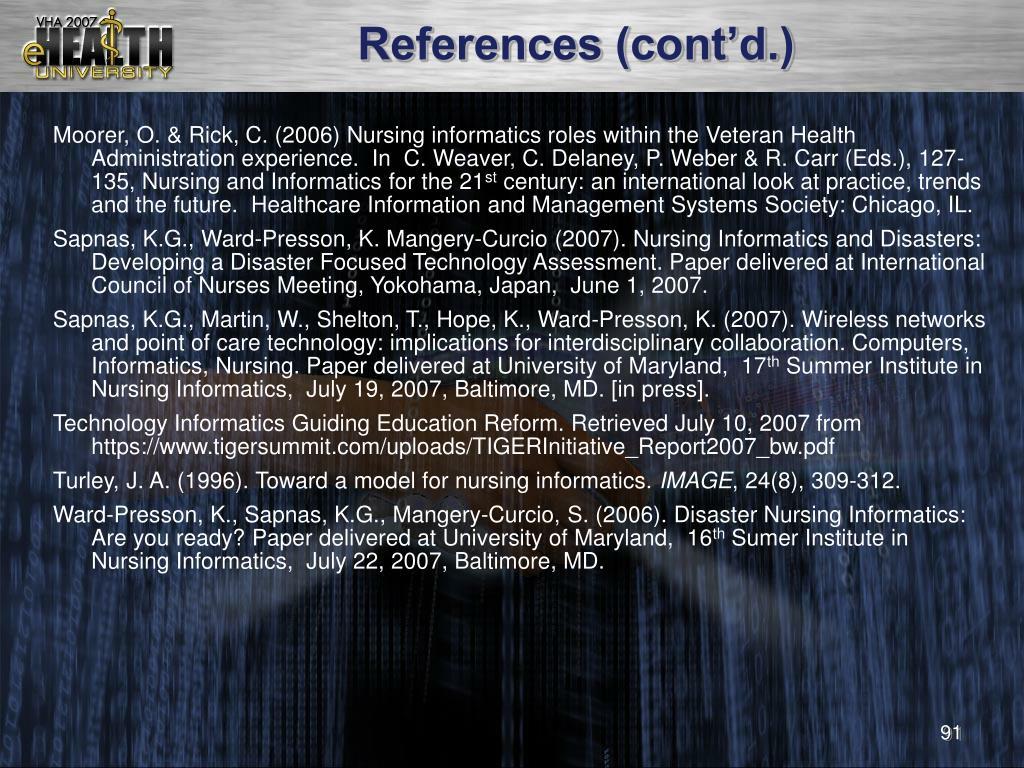 References (cont'd.)