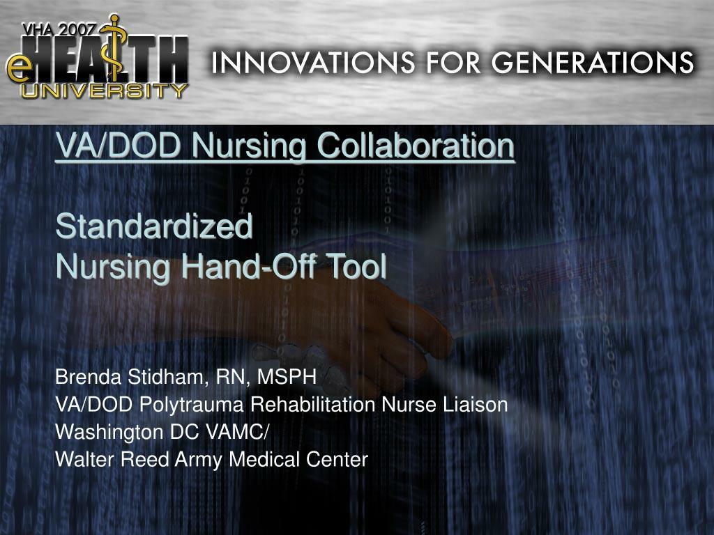 VA/DOD Nursing Collaboration