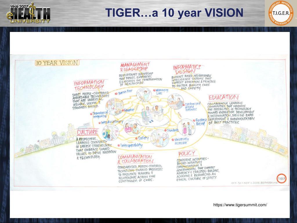 TIGER…a 10 year VISION