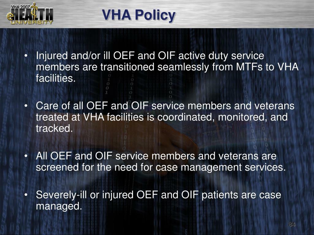 VHA Policy