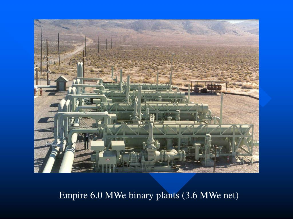 Empire 6.0 MWe binary plants (3.6 MWe net)