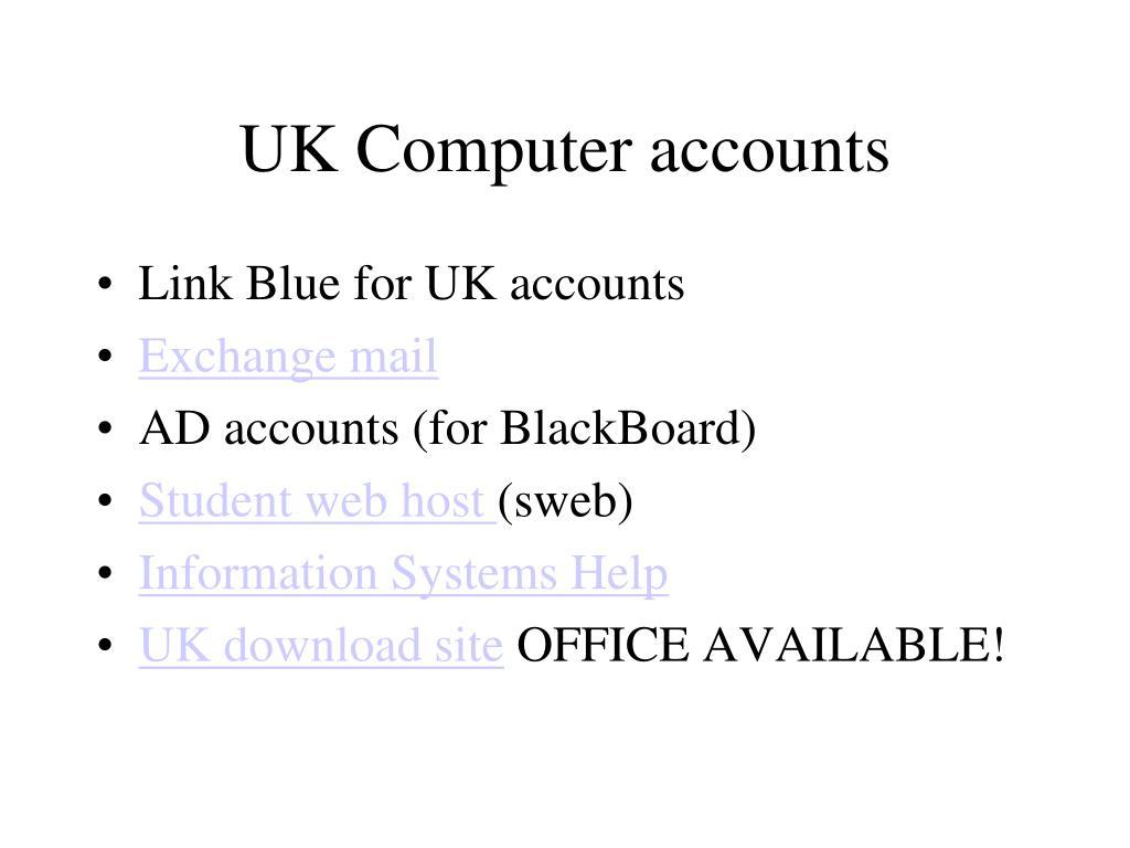 UK Computer accounts