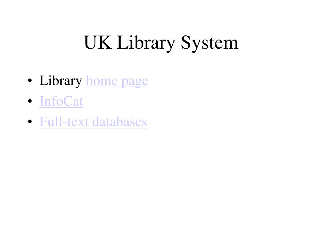 UK Library System