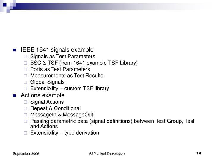 IEEE 1641 signals example