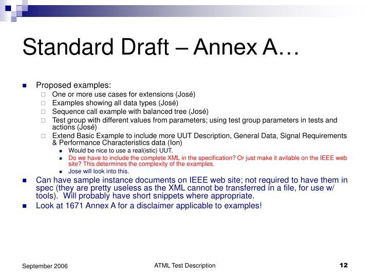 Standard Draft – Annex A…