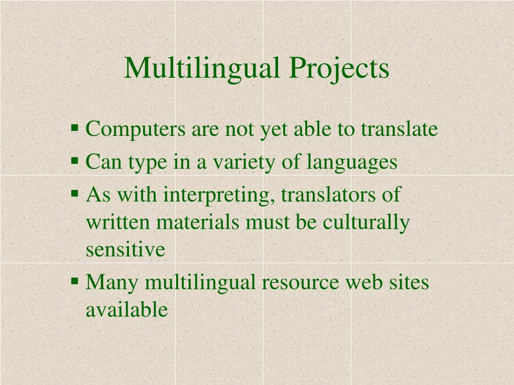 Multilingual Projects