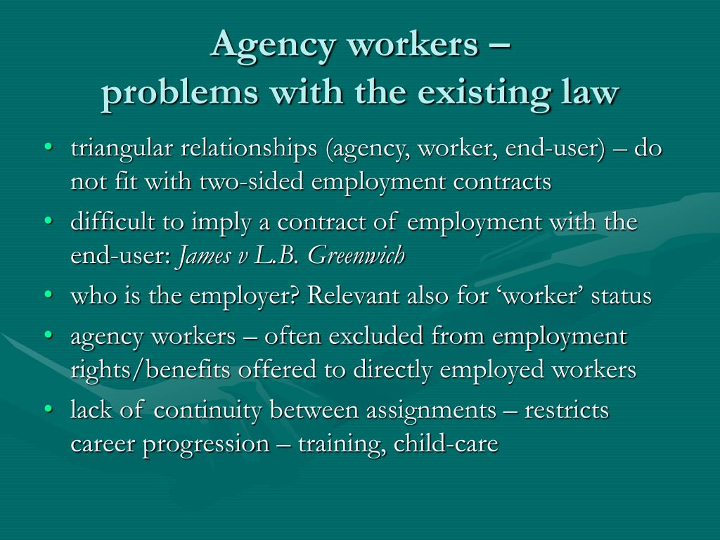 Agency workers –