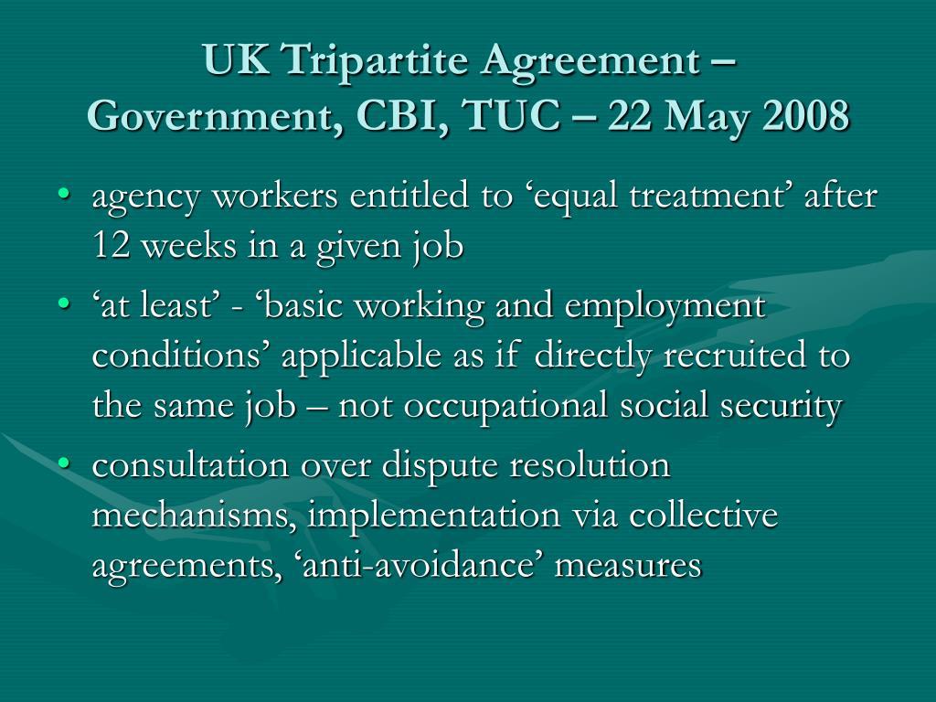 UK Tripartite Agreement –