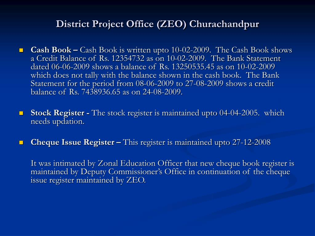 District Project Office (ZEO) Churachandpur