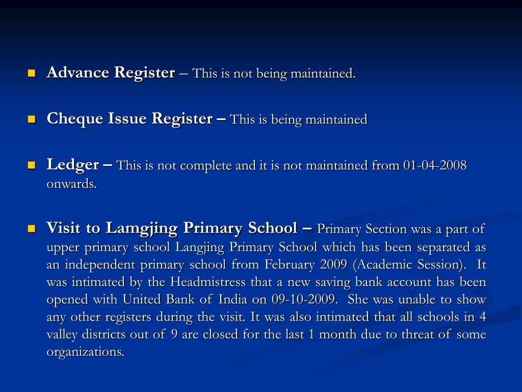 Advance Register