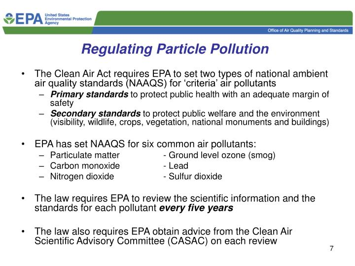Regulating Particle Pollution