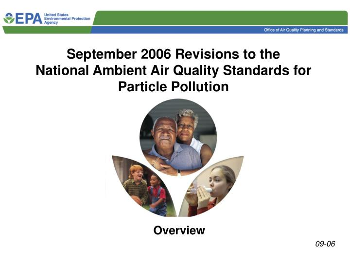 September 2006 Revisions to the