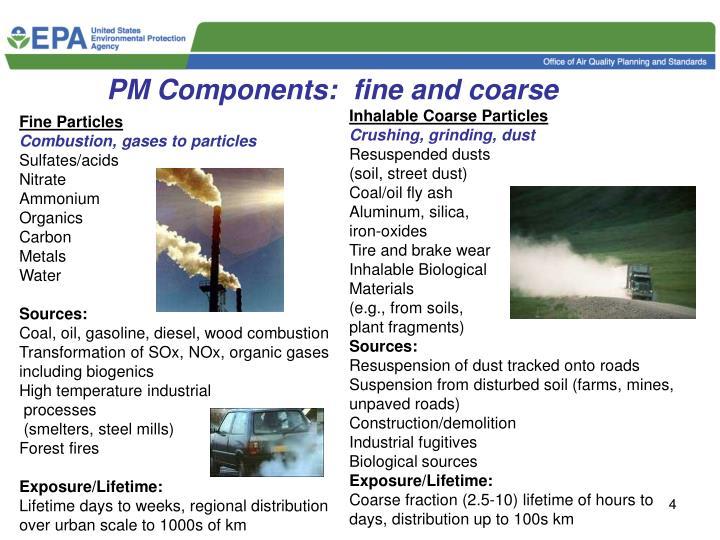 PM Components:  fine and coarse