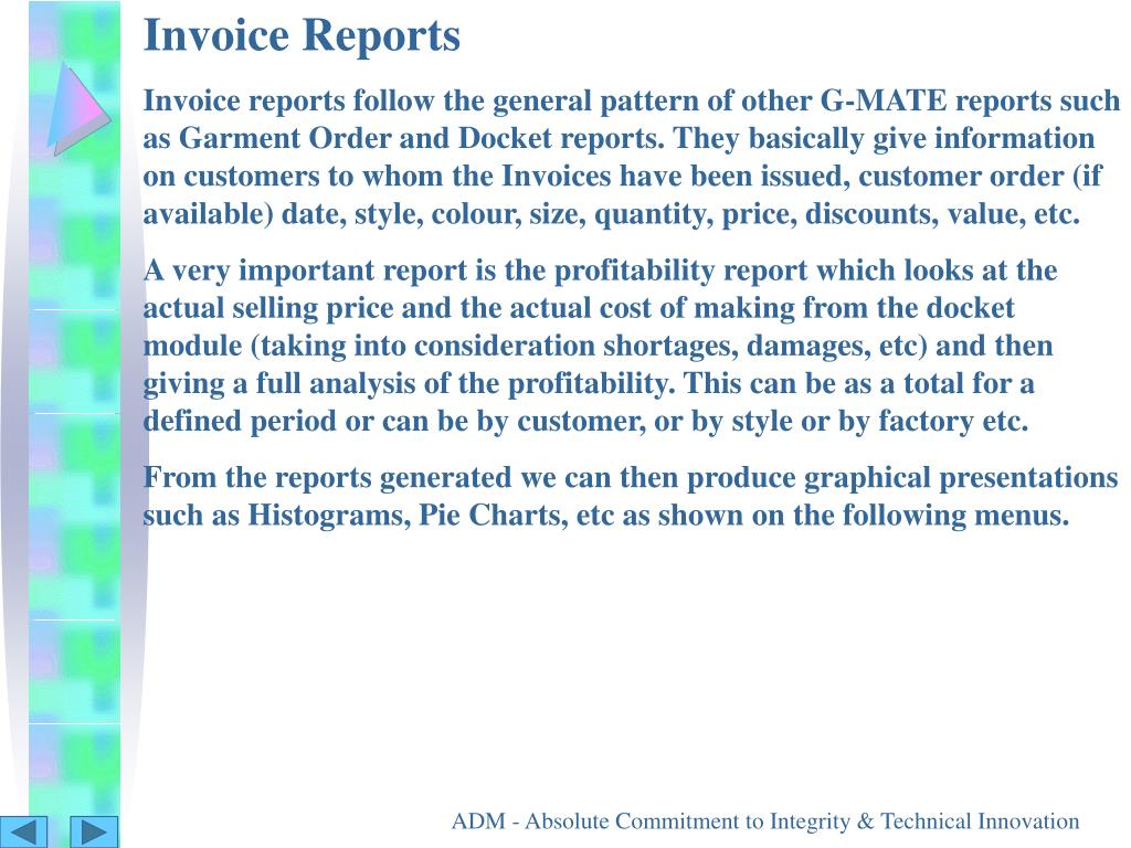 Invoice Reports
