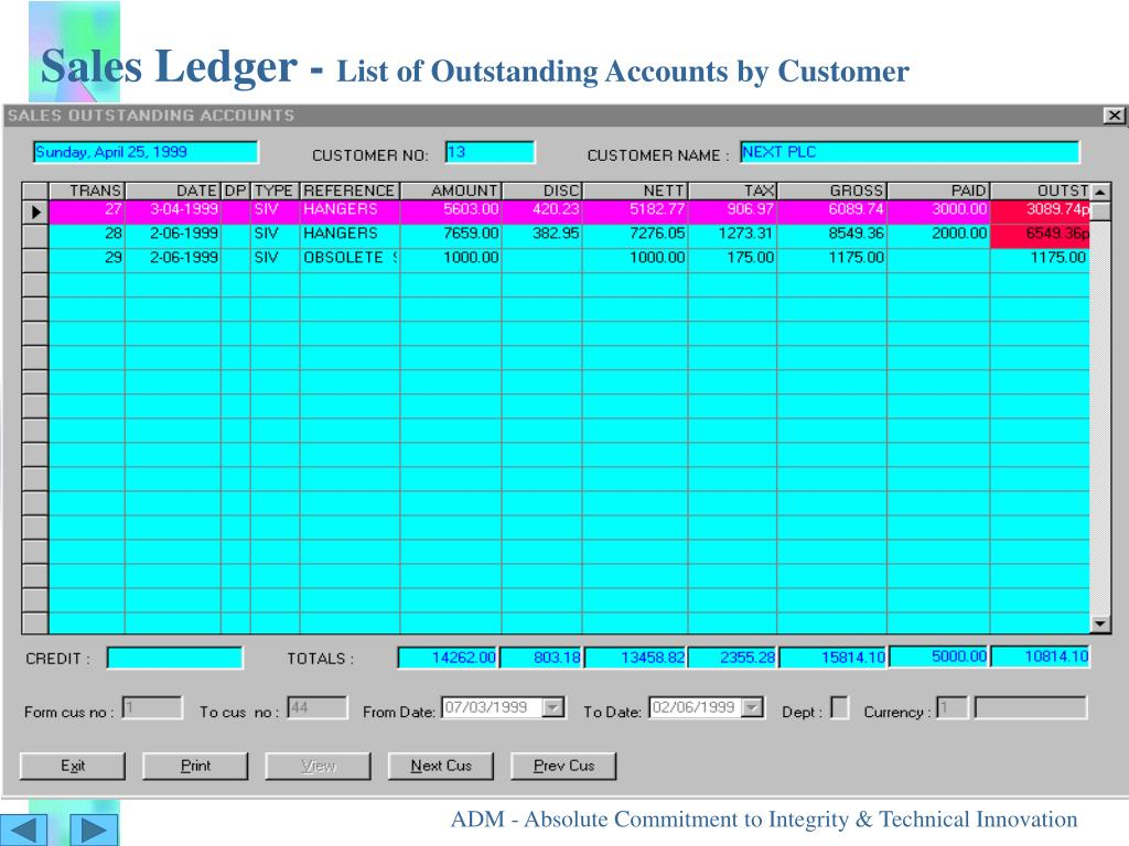 Sales Ledger -