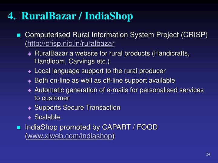 4.  RuralBazar / IndiaShop