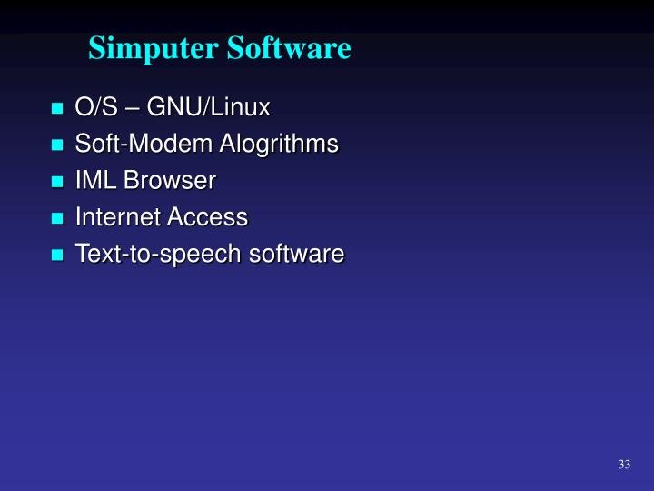 Simputer Software