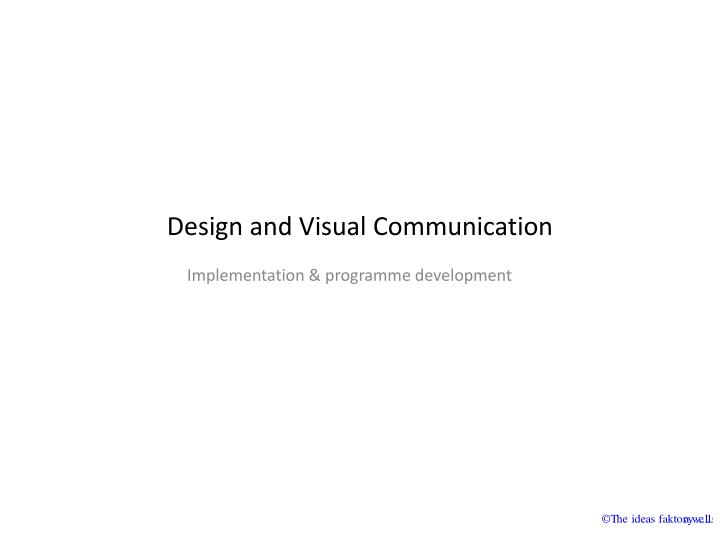 Design and visual communication