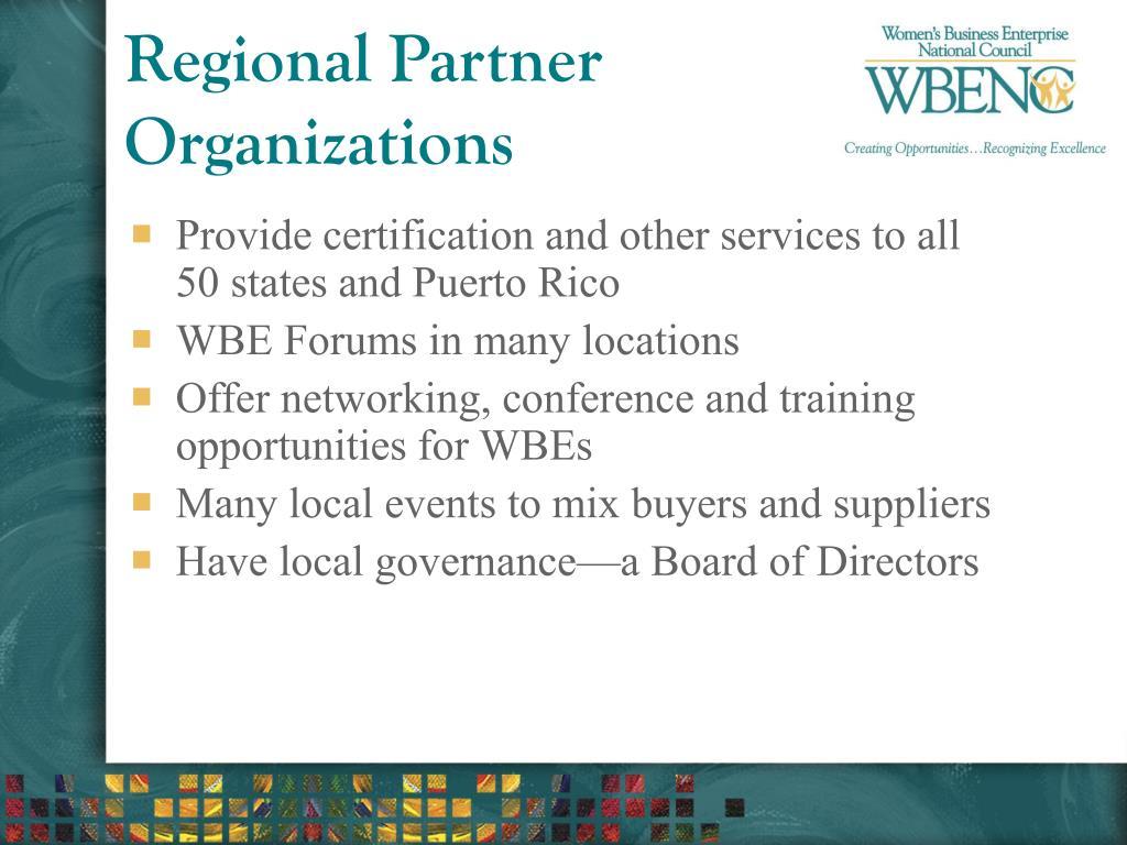 Regional Partner