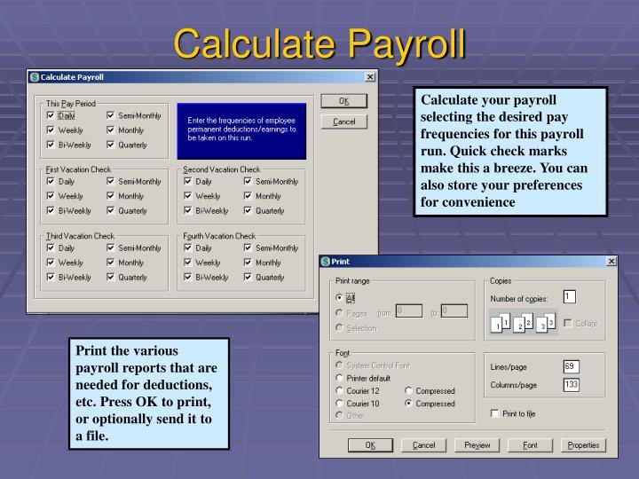 Calculate Payroll