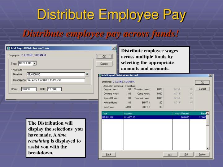 Distribute Employee Pay