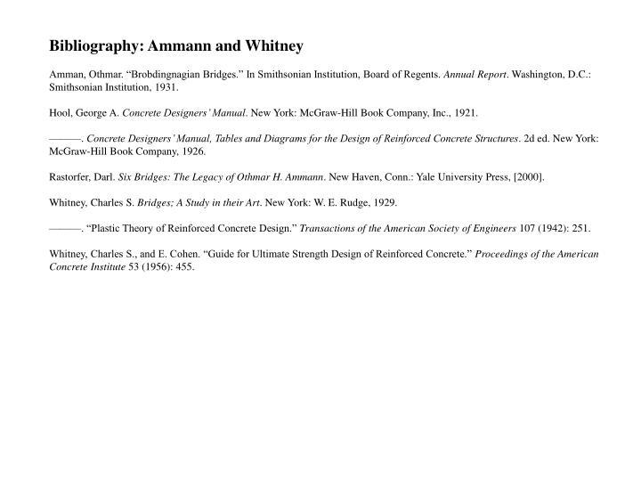Bibliography: Ammann and Whitney