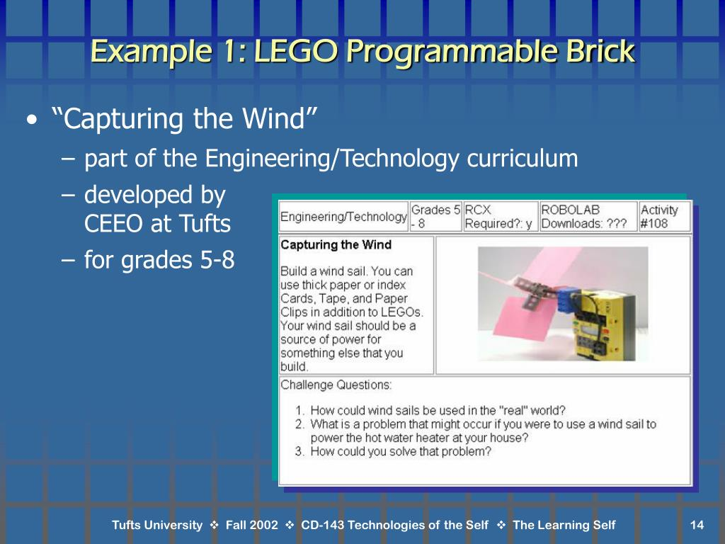 Example 1: LEGO Programmable Brick