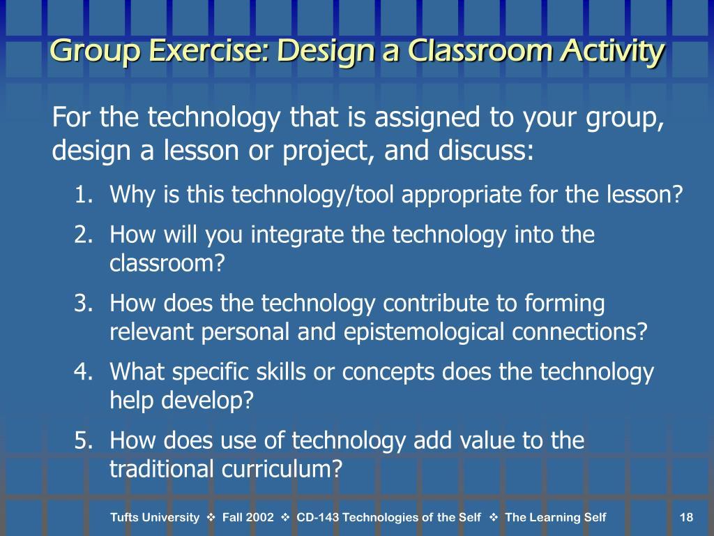 Group Exercise: Design a Classroom Activity