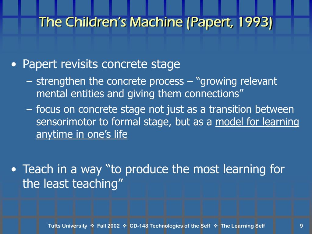 The Children's Machine (Papert, 1993)