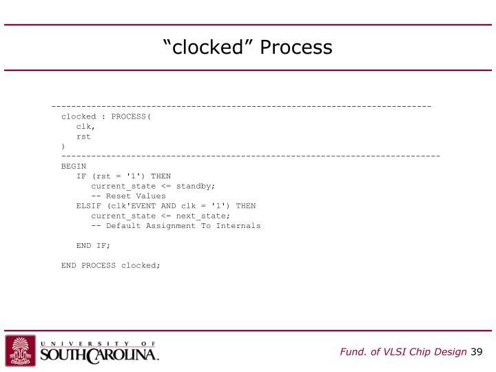 """clocked"" Process"