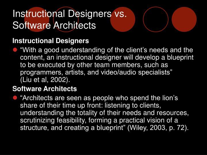 Instructional Designers vs.