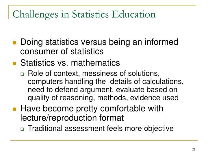 Challenges in Statistics Education