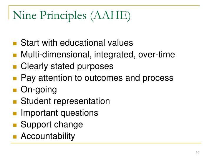 Nine Principles (AAHE)