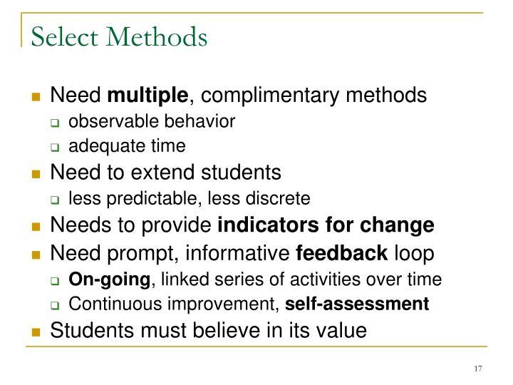 Select Methods