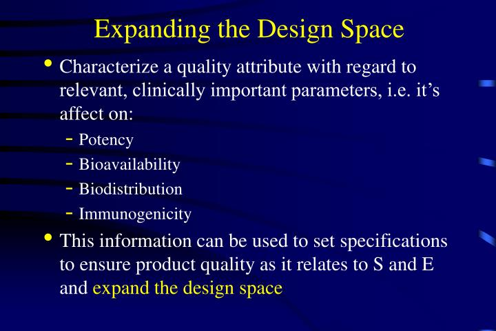 Expanding the Design Space
