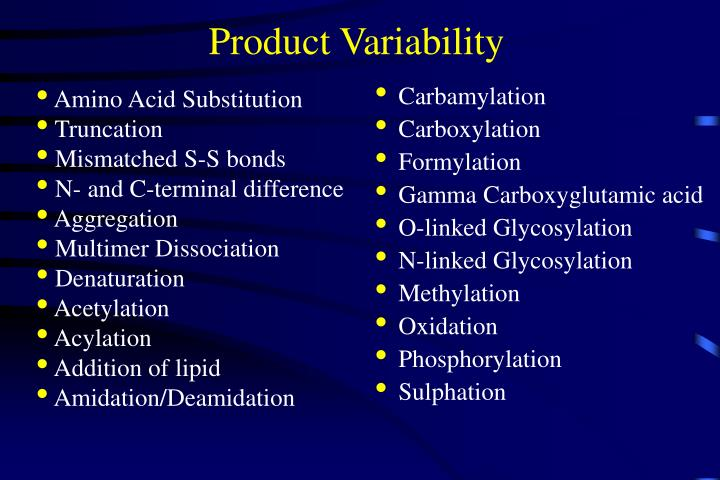 Product Variability