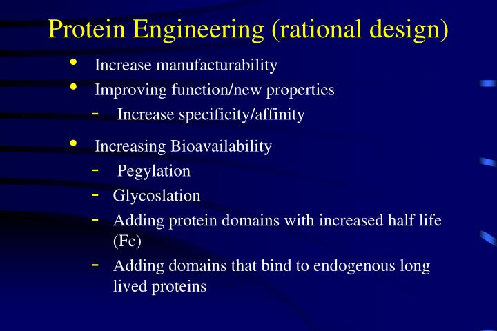 Protein Engineering (rational design)