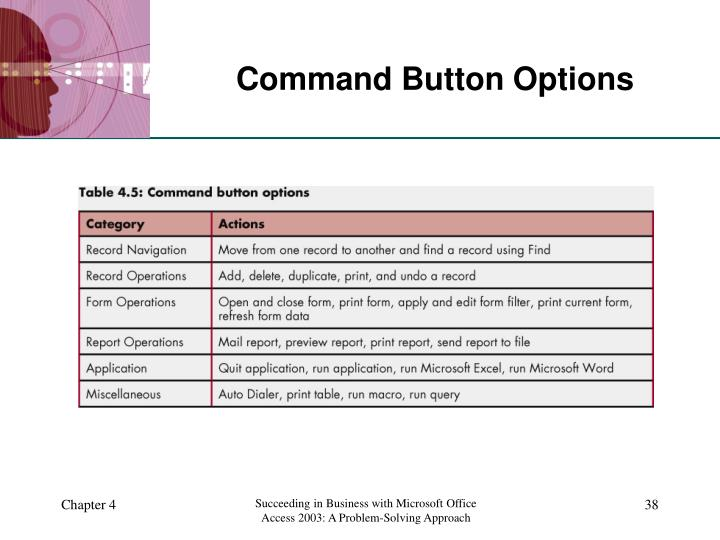 Command Button Options