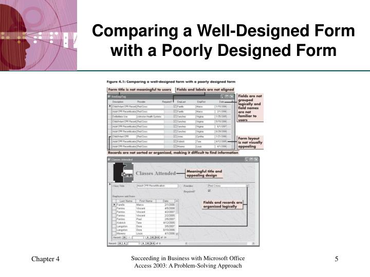 Comparing a Well-Designed Form with a Poorly Designed Form
