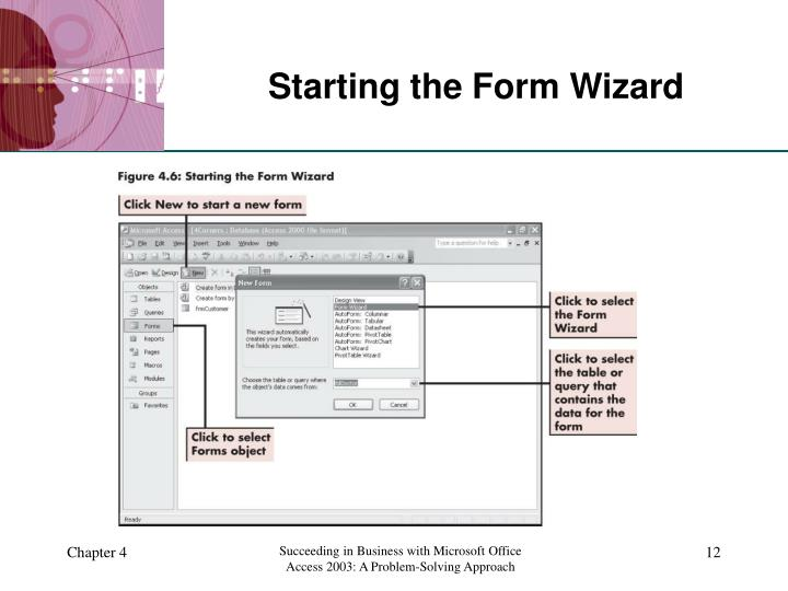 Starting the Form Wizard