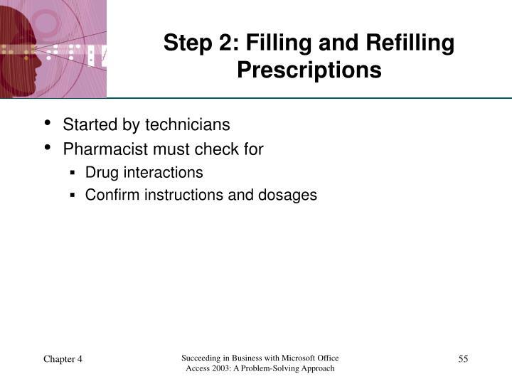 Step 2: Filling and Refilling Prescriptions
