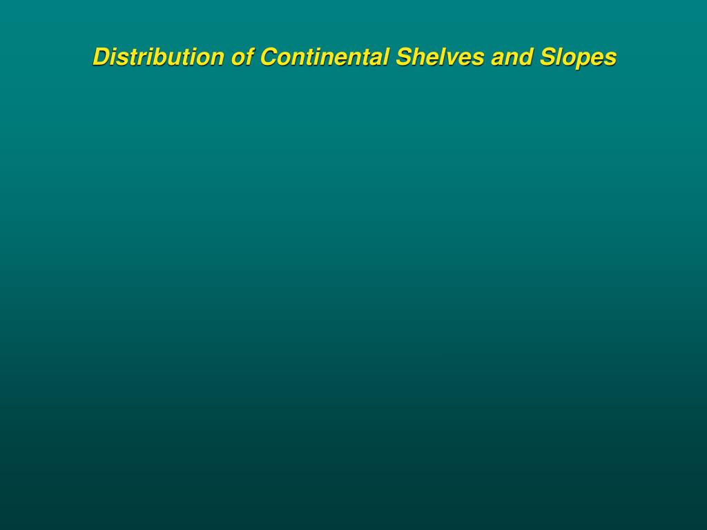 Distribution of Continental Shelves and Slopes
